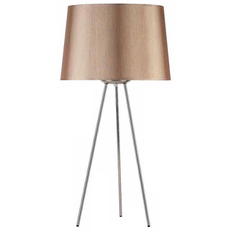 """Lights Up! Weegee Croissant Silk Glow 27"""" High Table Lamp"""