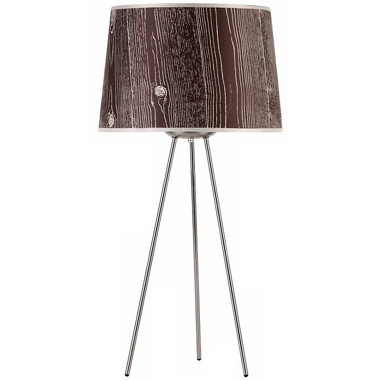 """Lights Up! Weegee Faux Bois Dark 27"""" High Table Lamp"""
