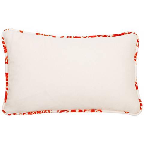 "Bali Bright Orange Welt 17"" Wide Linen Throw Pillow"