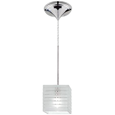 "WAC Tulum 4""W Frosted Glass Quick Connect LED Mini Pendant"