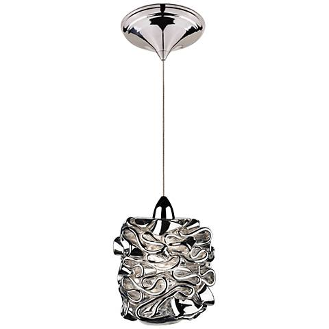 Wac candy 4 1 2 wide led silver art glass mini pendant