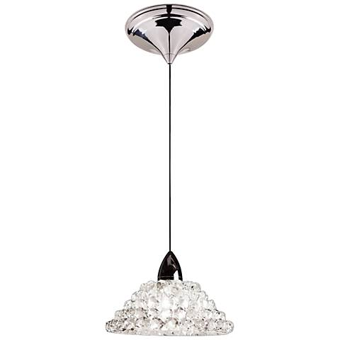 "WAC Giselle 5 1/2""W LED White Diamond Glass Mini Pendant"