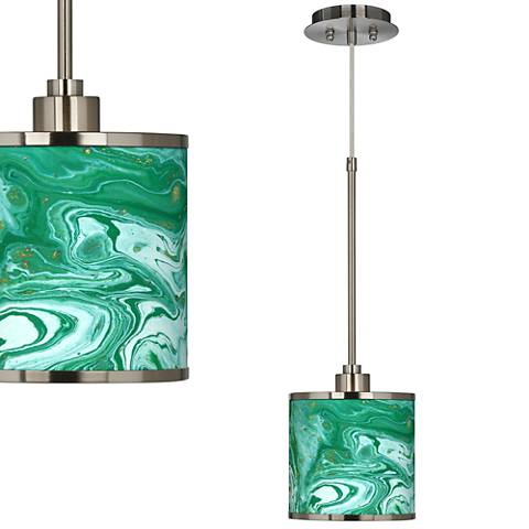 Malachite Giclee Glow Mini Pendant Light