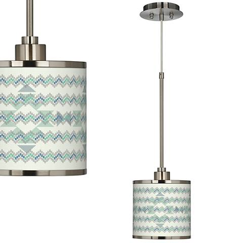 Triangular Stitch Giclee Glow Mini Pendant Light