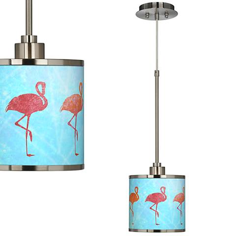 Flamingo Shade Giclee Glow Mini Pendant Light