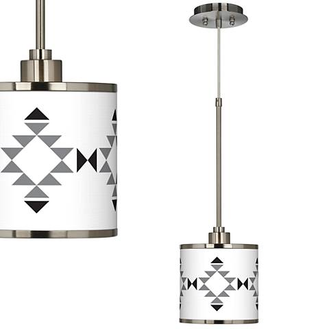 Desert Grayscale Giclee Glow Mini Pendant Light