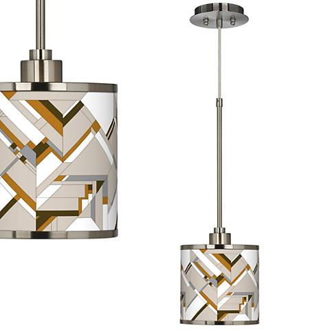 Craftsman Mosaic Giclee Glow Mini Pendant Light