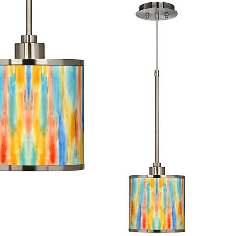 Tricolor Wash Giclee Glow Mini Pendant Light