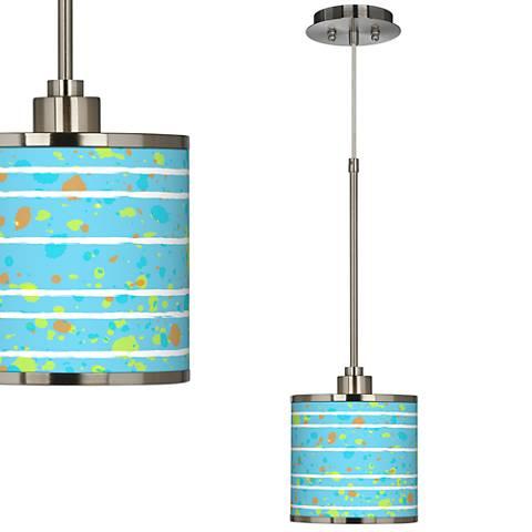 Paint Drips Giclee Glow Mini Pendant Light