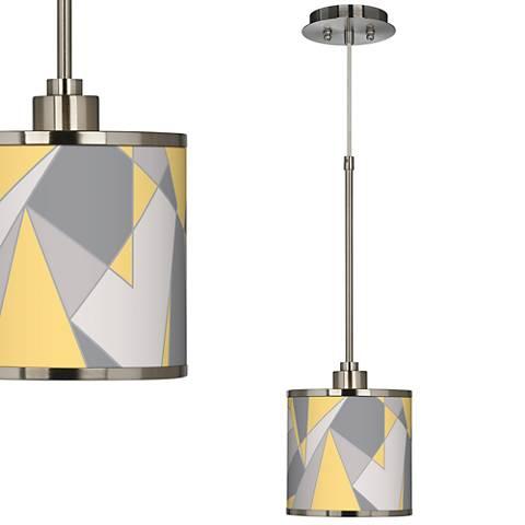 Modern Mosaic II Giclee Glow Mini Pendant Light
