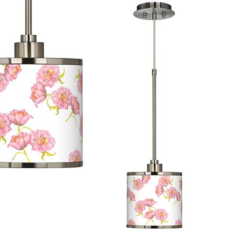 Pretty Peonies Giclee Glow Mini Pendant Light