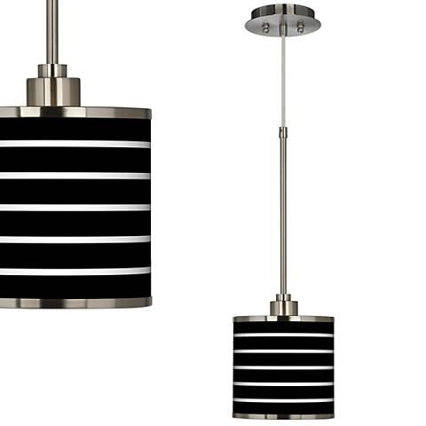 Bold Stripe Giclee Glow Mini Pendant Light