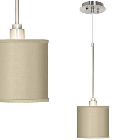 "Sesame 7"" Wide Faux Silk Mini-Pendant Light"