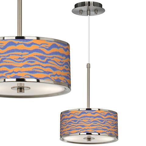 "Sunset Stripes Giclee Glow 10 1/4"" Wide Mini Pendant"
