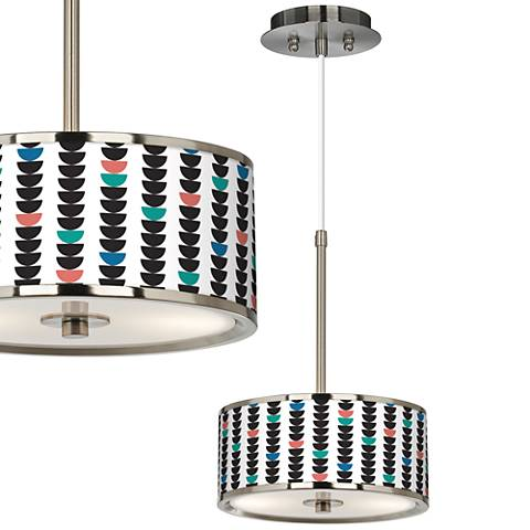 "Semi-Dots Giclee Glow 10 1/4"" Wide Pendant Light"