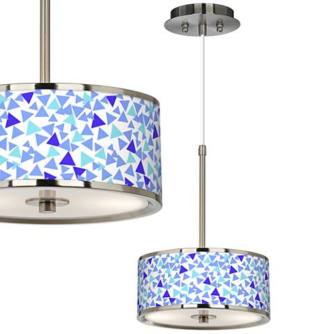 "Geo Confetti Giclee Glow 10 1/4"" Wide Pendant Light"