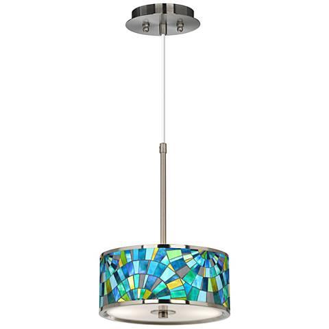 "Lagos Mosaic Giclee Glow 10 1/4"" Wide Pendant Light"