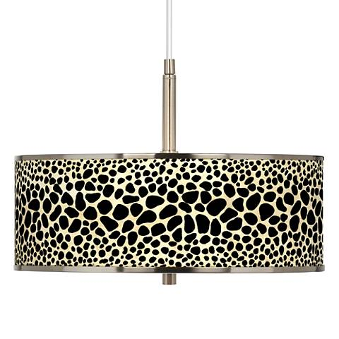 "Leopard Giclee Glow 16"" Wide Pendant Light"