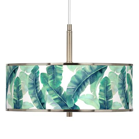 "Guinea Giclee Glow 16"" Wide Pendant Light"