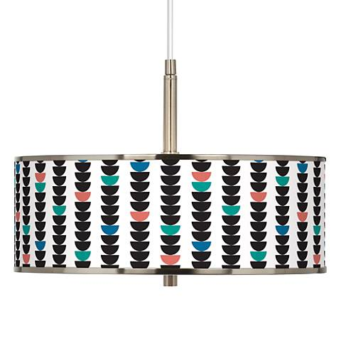 "Semi-Dots Giclee Glow 16"" Wide Pendant Light"