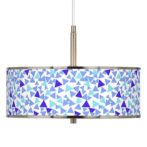 "Geo Confetti Giclee Glow 16"" Wide Pendant Light"