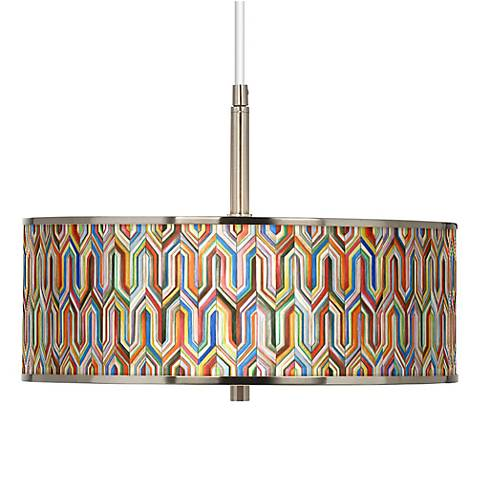 "Synthesis Giclee Glow 16"" Wide Pendant Light"