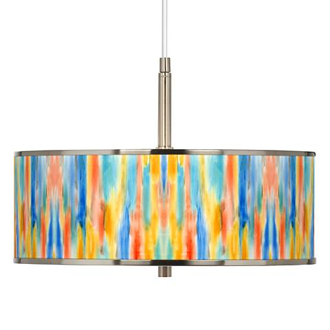 "Tricolor Wash Giclee Glow 16"" Wide Pendant Light"