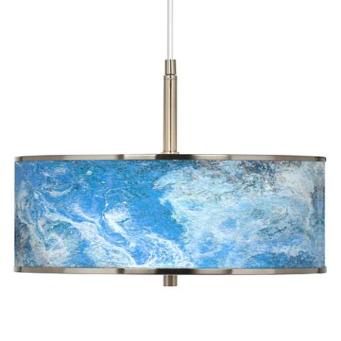 "Ultrablue Giclee Glow 16"" Wide Pendant Light"