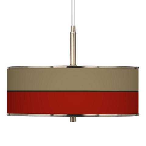 """Empire Red Giclee Glow 16"""" Wide Pendant Light"""