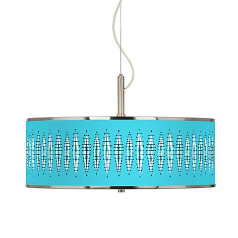 "Vibraphonic Bounce Giclee Glow 20"" Wide Pendant Light"