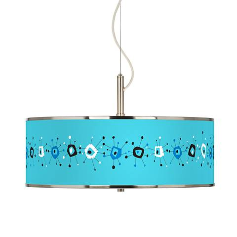 "Sputnickle Giclee Glow 20"" Wide Pendant Light"