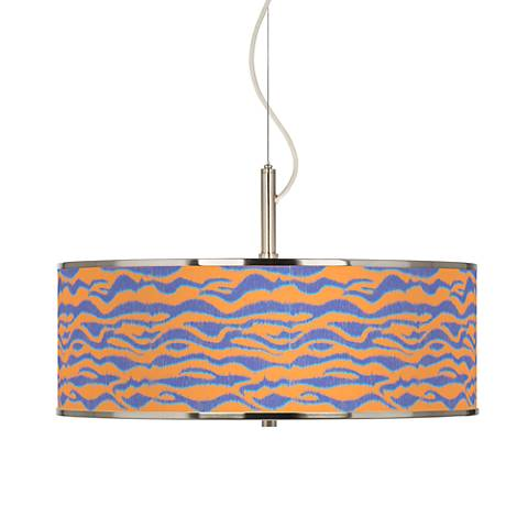 "Sunset Stripes Giclee Glow 20"" Wide Pendant Light"