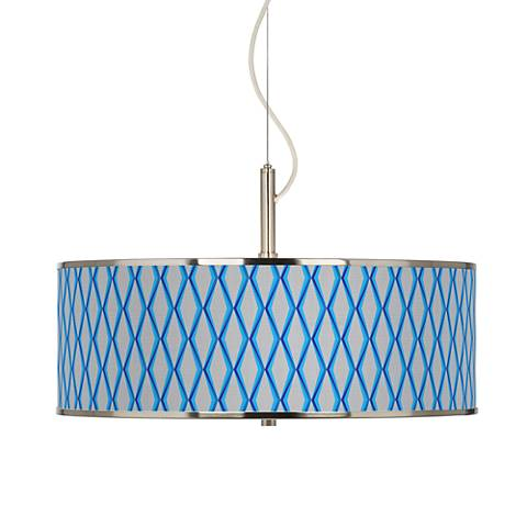 "Bleu Matrix Giclee Glow 20"" Wide Pendant Light"