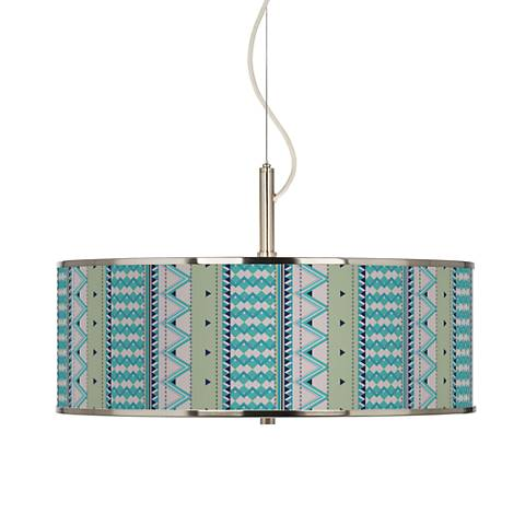 "Geo Metrix Giclee Glow 20"" Wide Pendant Light"