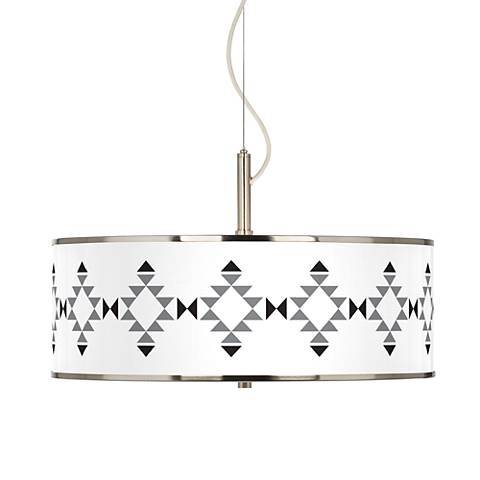 "Desert Grayscale Giclee Glow 20"" Wide Pendant Light"