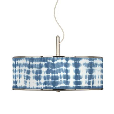 "Shibori Surf Giclee Glow 20"" Wide Pendant Light"
