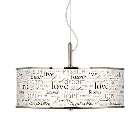 "Positivity Giclee Glow 20"" Wide Pendant Light"