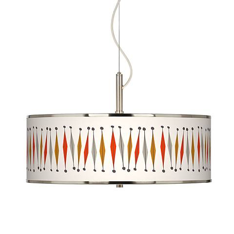 "Tremble Giclee Glow 20"" Wide Pendant Light"