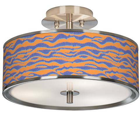 """Sunset Stripes Giclee Glow 14"""" Wide Ceiling Light"""