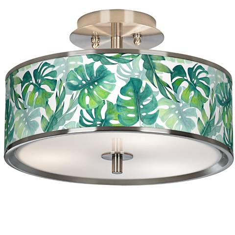 "Tropica Giclee Glow 14"" Wide Ceiling Light"