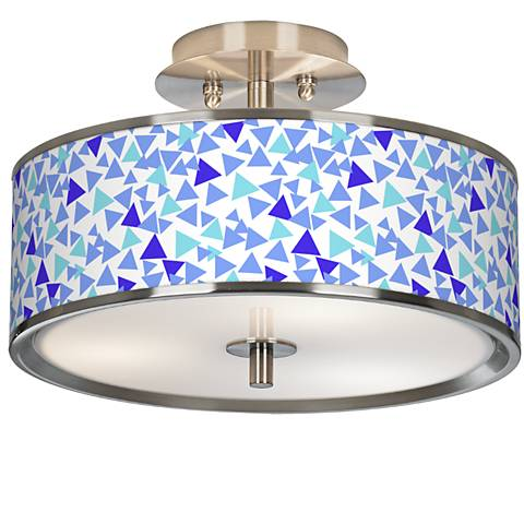"Geo Confetti Giclee Glow 14"" Wide Ceiling Light"