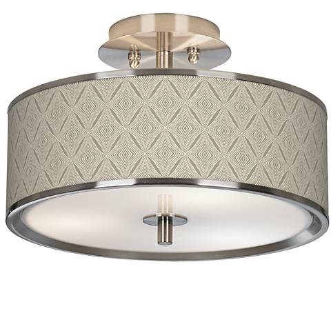 "Moroccan Diamonds Giclee Glow 14"" Wide Ceiling Light"