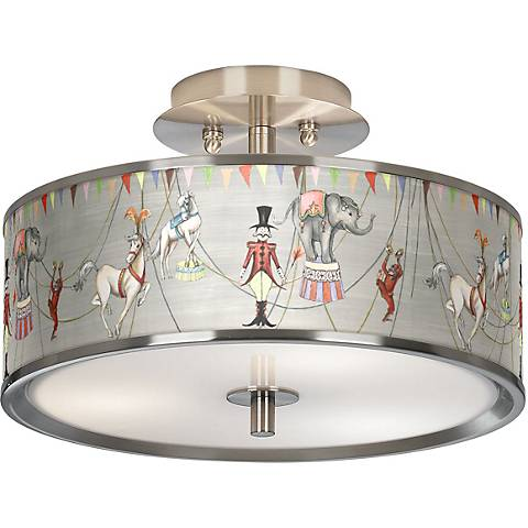 "Circus Time Giclee Glow 14"" Wide Ceiling Light"