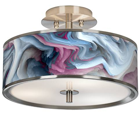 "Europa Giclee Glow 14"" Wide Ceiling Light"
