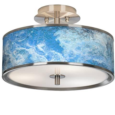 "Ultrablue Giclee Glow 14"" Wide Ceiling Light"