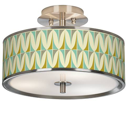 "Vernaculis I Giclee Glow 14"" Wide Ceiling Light"