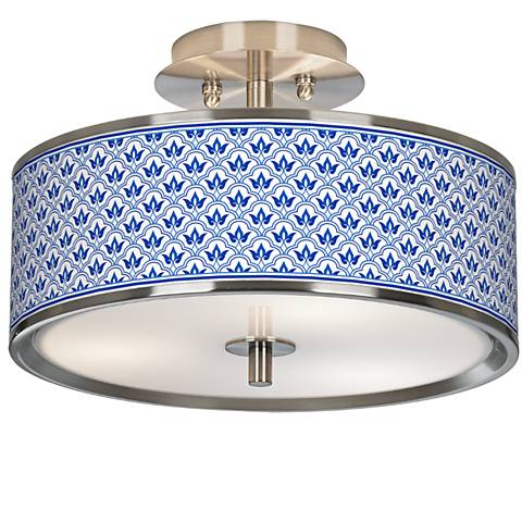 "Arabella Giclee Glow 14"" Wide Ceiling Light"