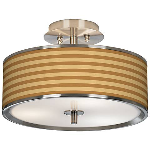 "Butterscotch Parallels Giclee Glow 14"" Wide Ceiling Light"