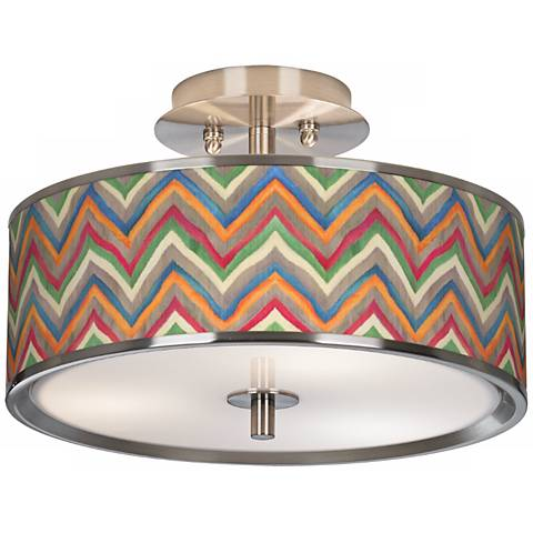"Canyon Waves Giclee Glow 14"" Wide Ceiling Light"