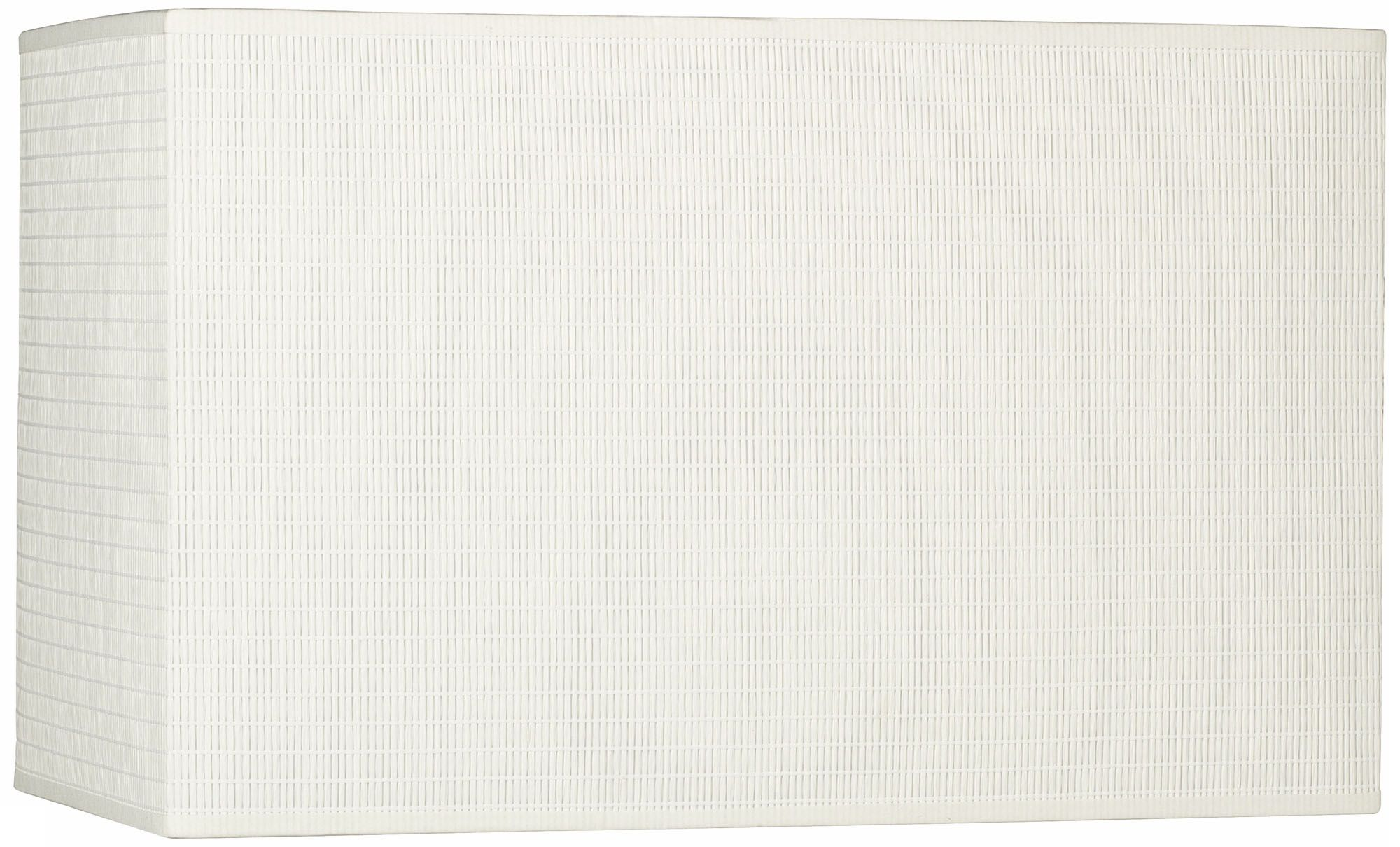Off White Rectangular Paper Shade 8/16x8/16x10 (Spider)